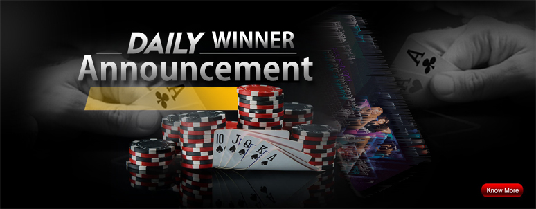 QQ Poker Domino Daily Winner Announcement
